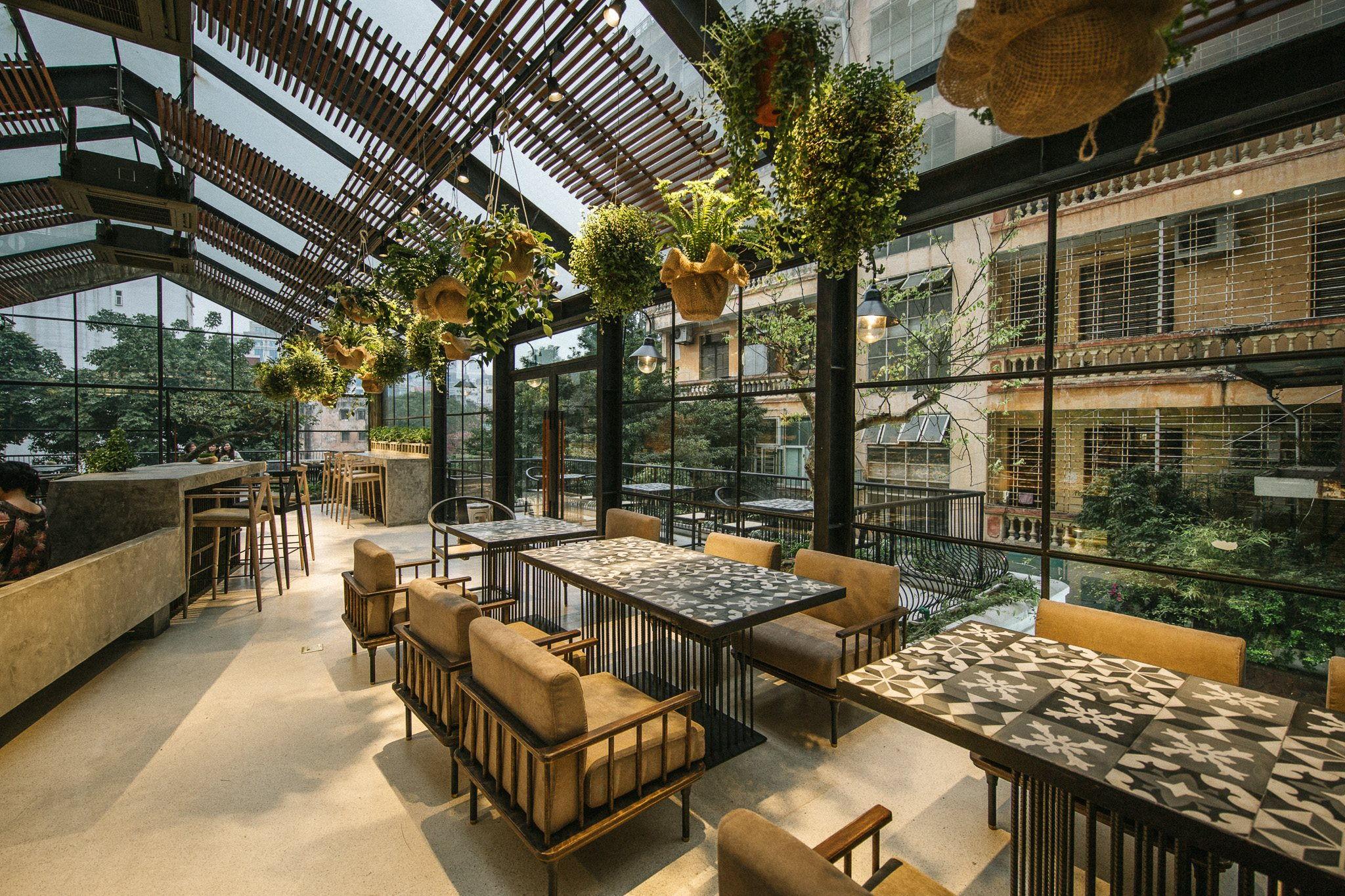 hanoi vegetarian restaurant uu dam chay greenhouse top floor