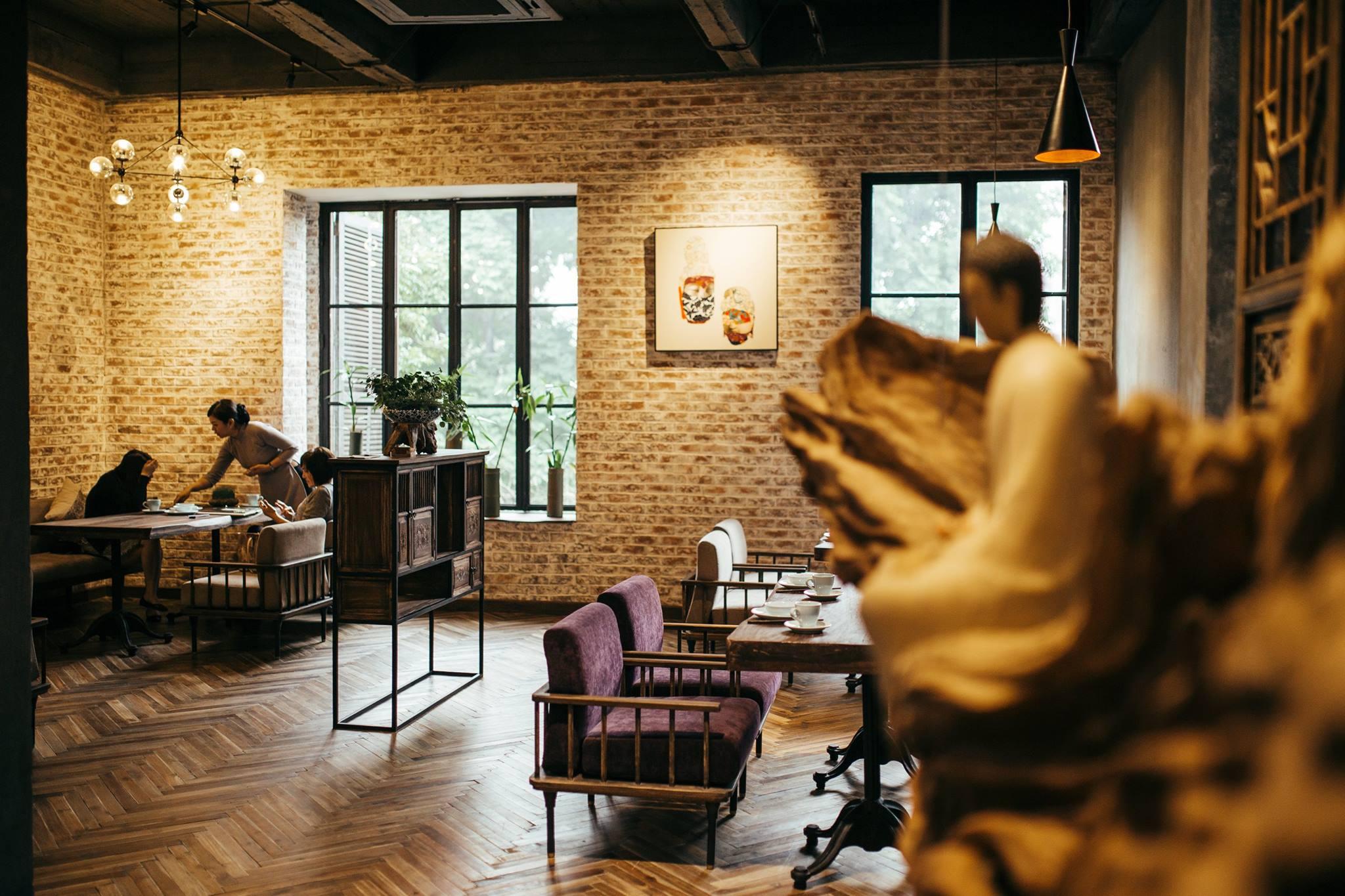 hanoi vegetarian restaurant uu dam chay interior design