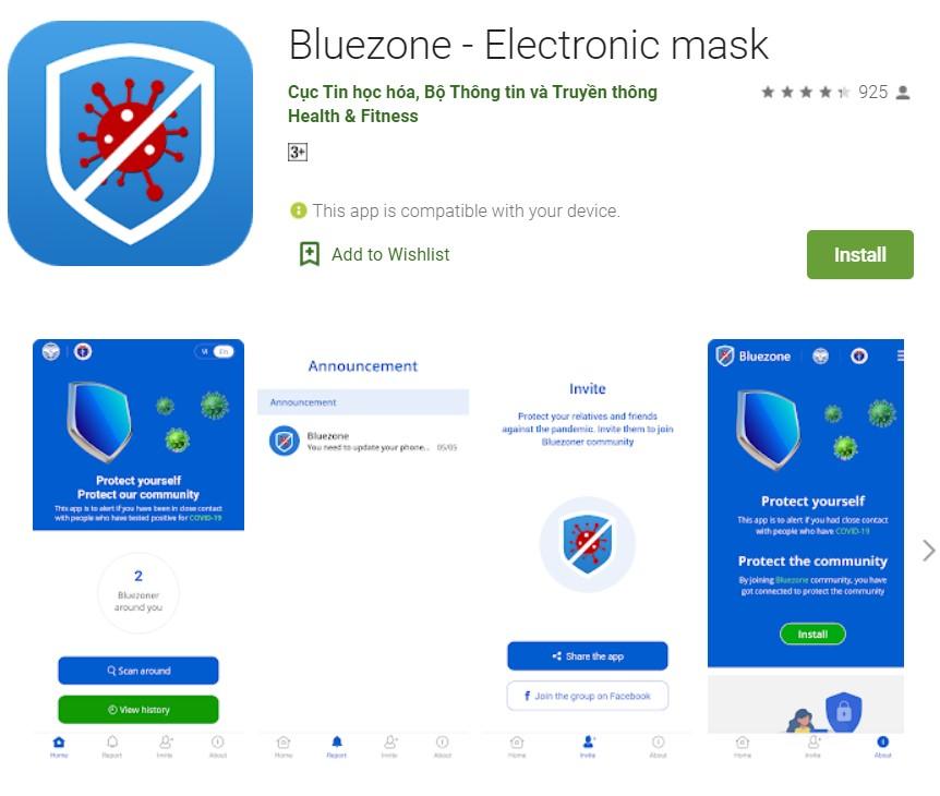 Bluezone app