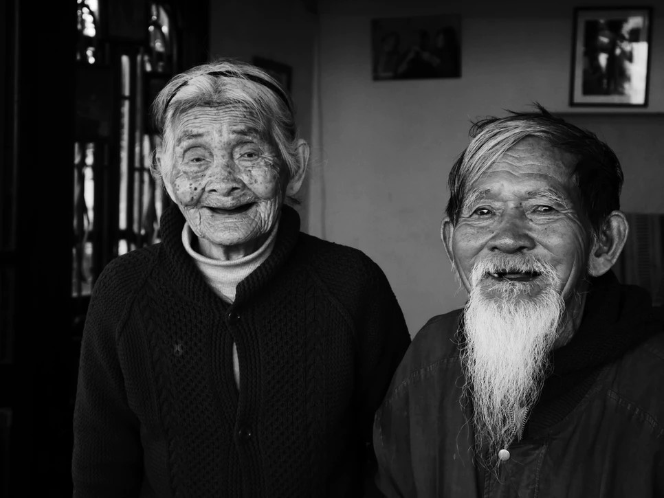Vietnamese old couple