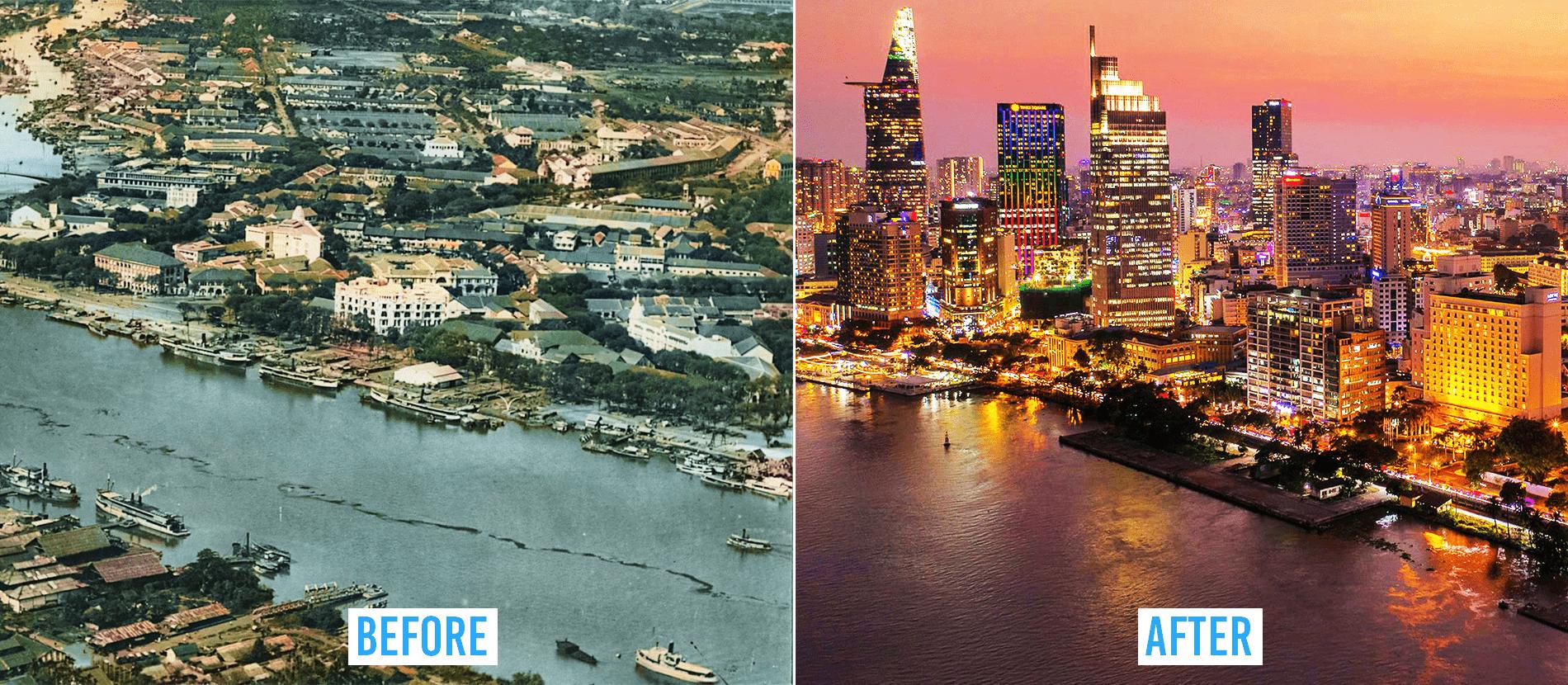 Saigon then and now_Bach Dang wharf