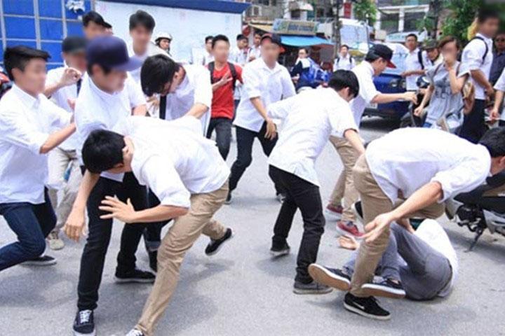 Vietnam students fight