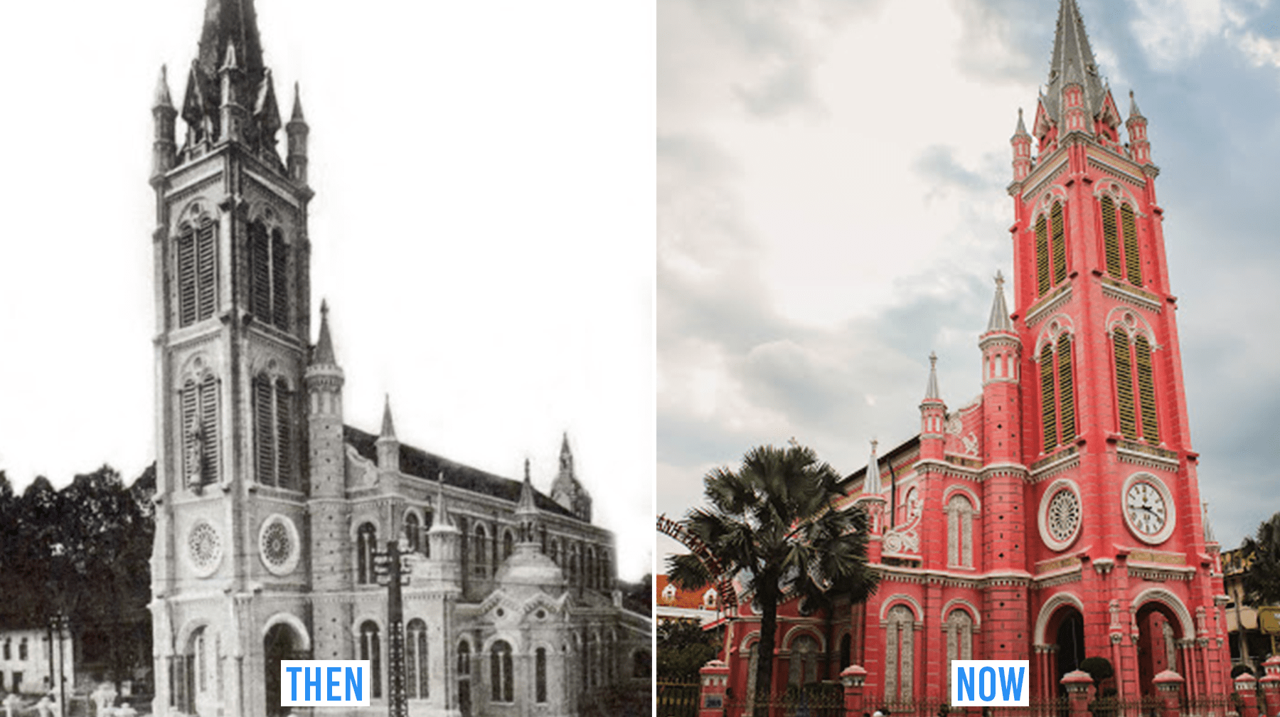 saigon then & now_tan dinh church