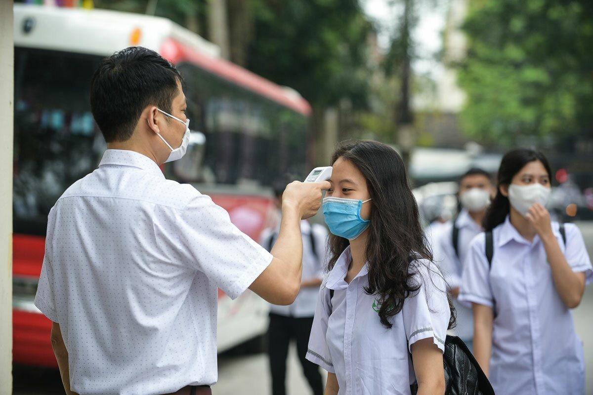 Vietnam 2020 high school grad exam_temperature measure