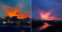 Phoenix-Shaped Cloud Brightens Saigon's Evening Skies, Giving Viewers Hope In Fight Against COVID-19