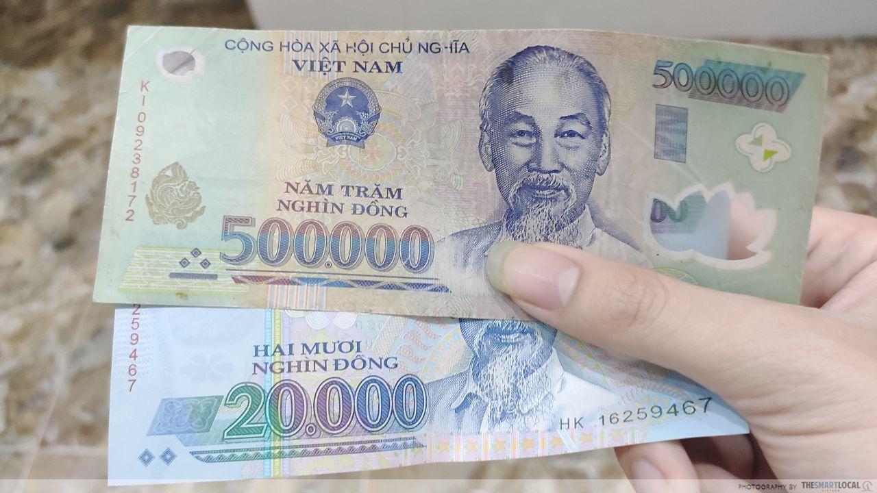 scams in Vietnam - bill switcheroo