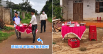 Vietnamese Wedding Guests Bring Tables Home To Celebrate, Taking COVID-19 Safety Measures Up A Notch
