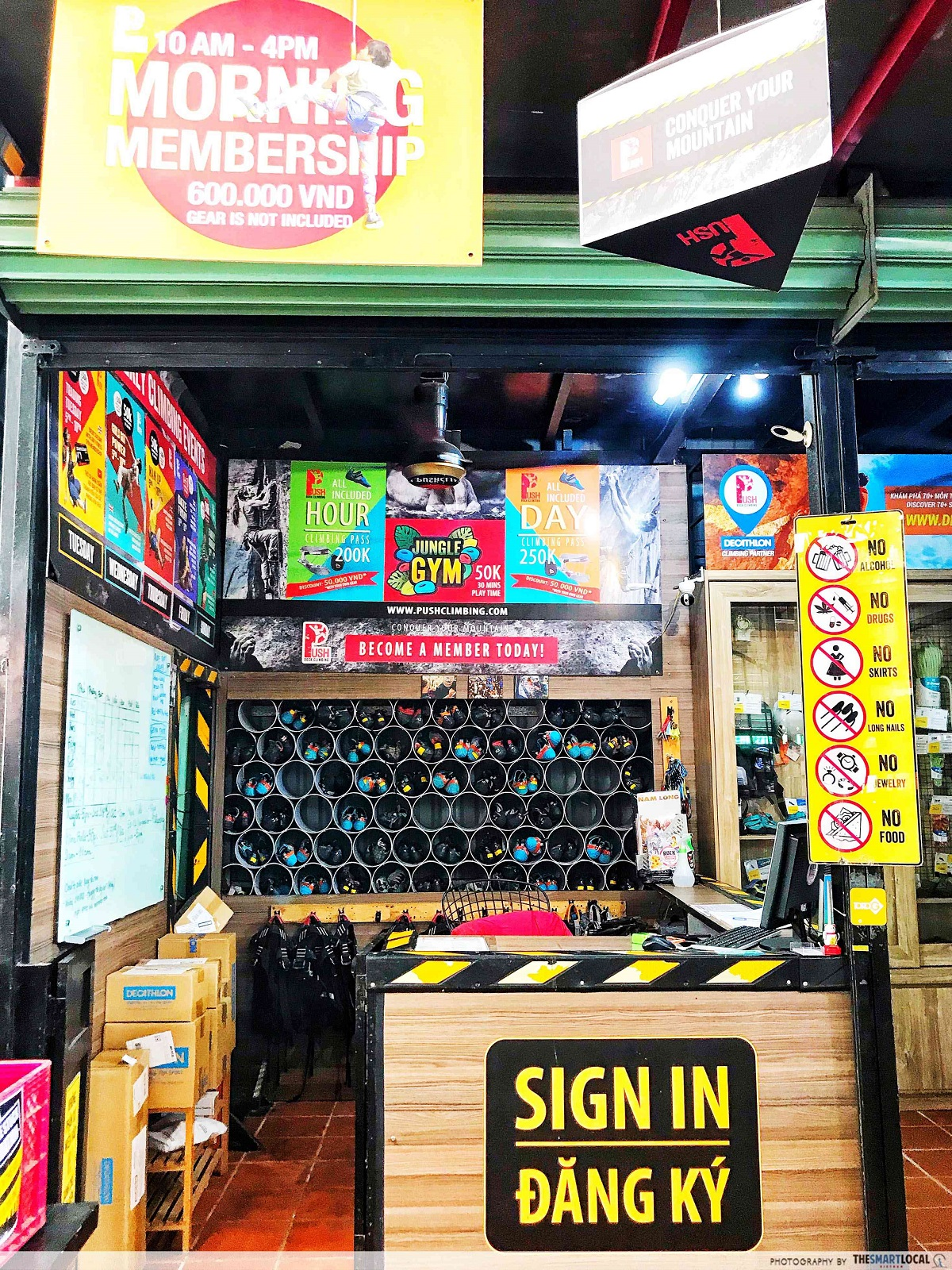 saigon outcast - rock climbing rental shop