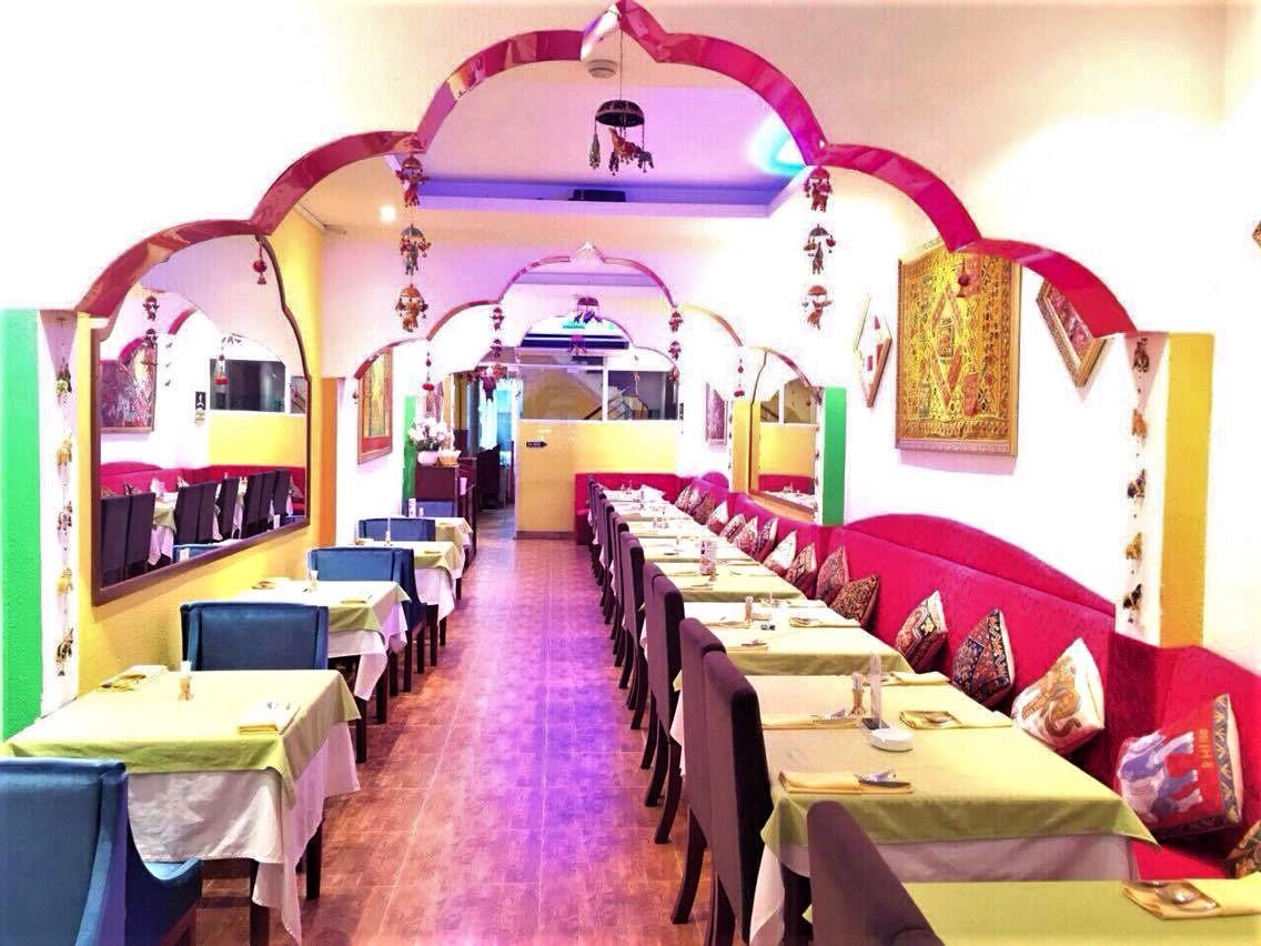Ganesh restaurant dining space