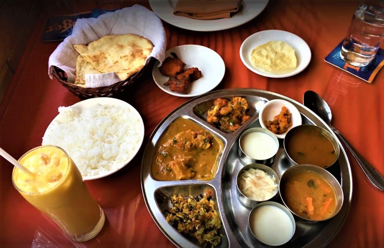 Saigon Indian restaurant - Thali Tray