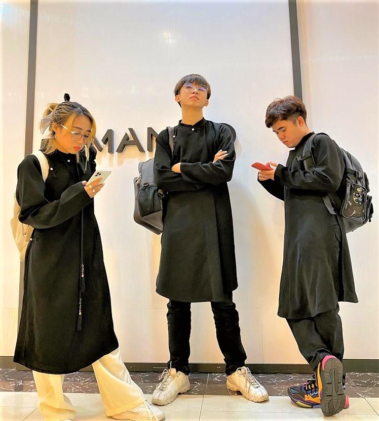 ao dai streetwear