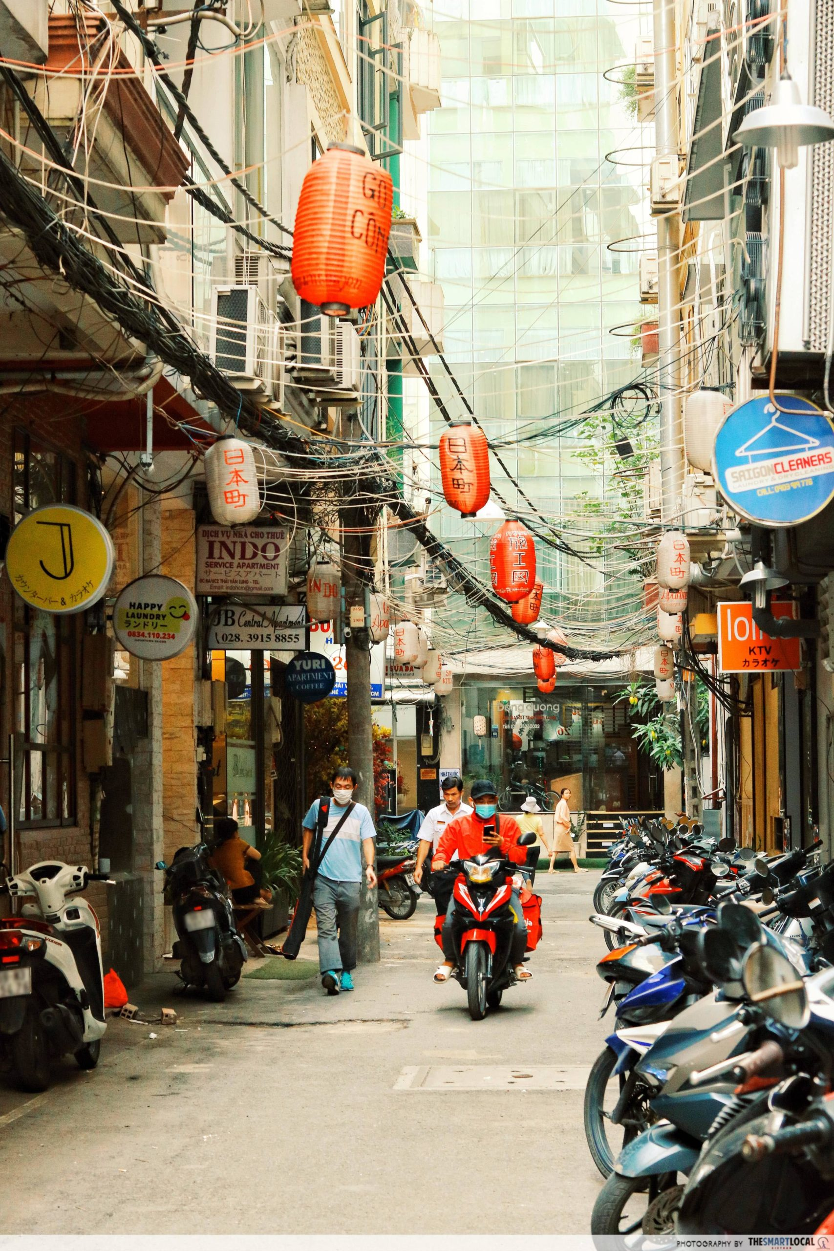 Japan Town alley by day