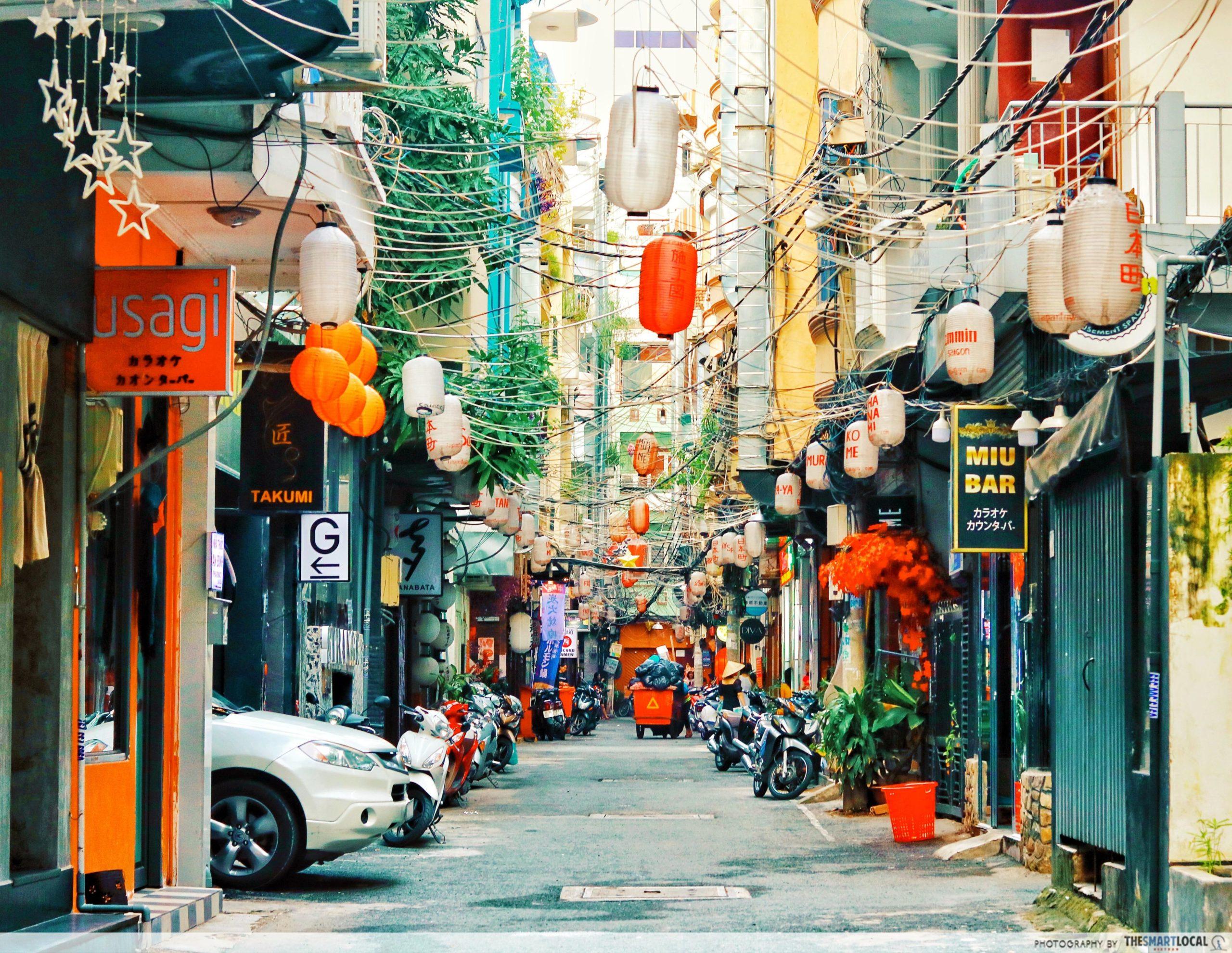 Japan Town Saigon by day