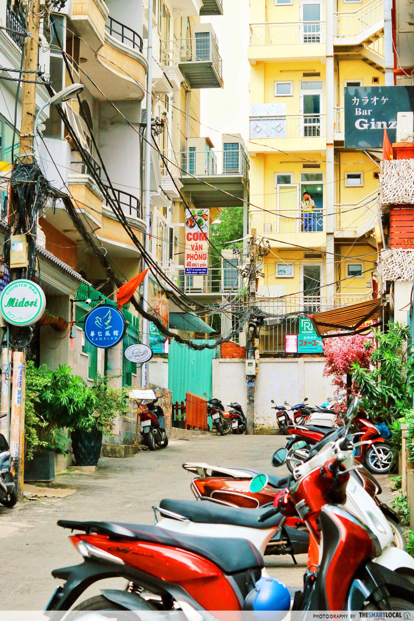 Japan Town Saigon motorbikes