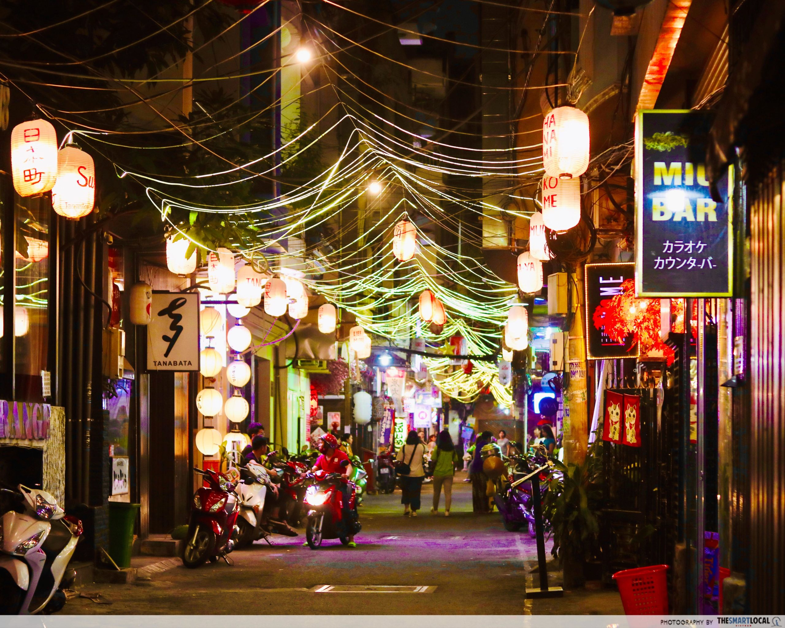 Japan Town alley by night