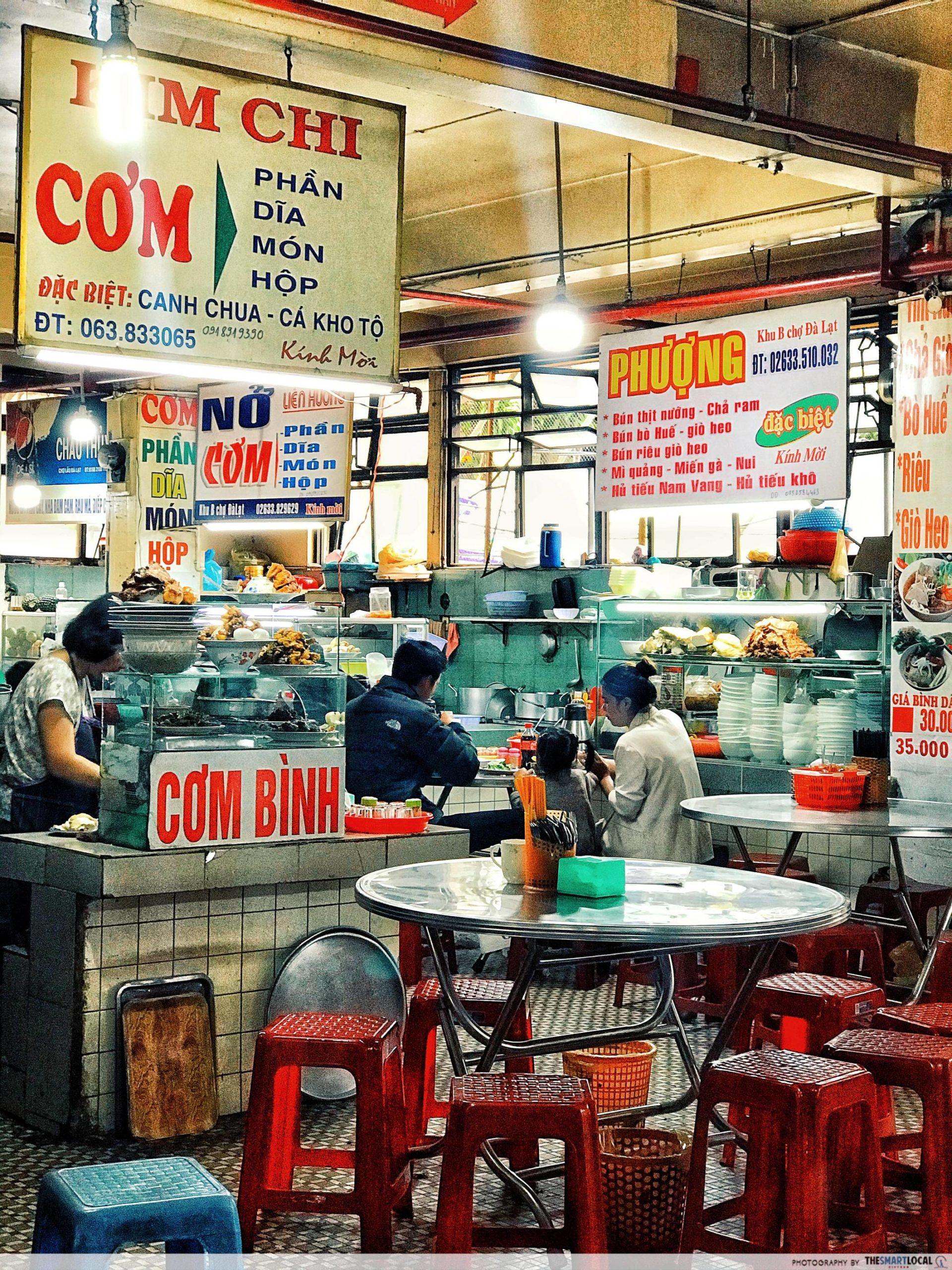 dalat market - food court
