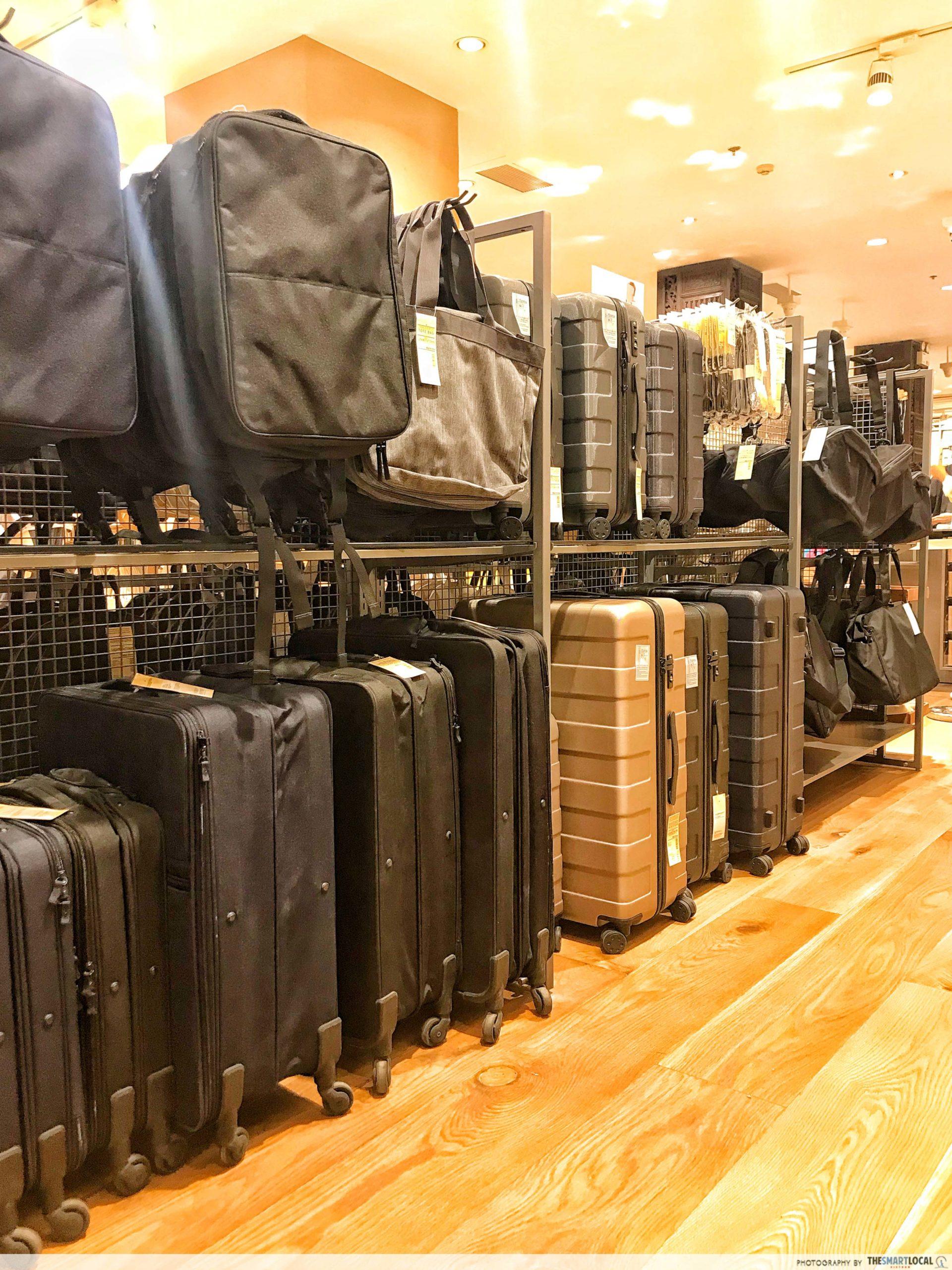 MUJI bags suitcases