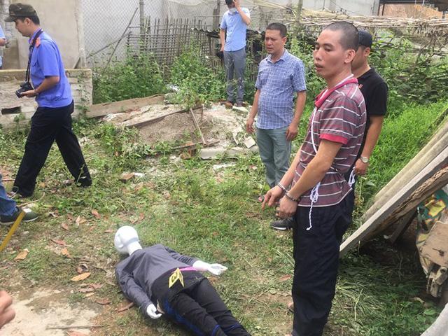 crimes in Vietnam - chicken girl crime scene recreation