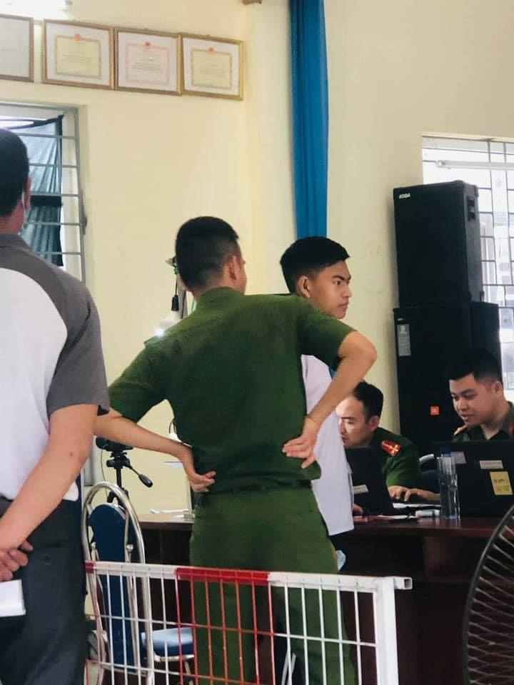 flawless face - police man inspecting applicant 2