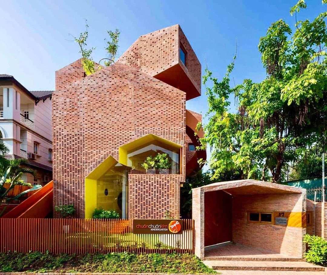 unique buildings vietnam - chuon chuon kim kindergarten