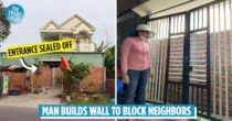 Man Builds Brick Wall To Block Neighbour's House After Alleged Facebook Dispute