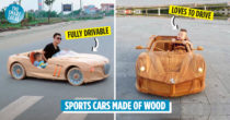 Carpenter Makes Drivable Wooden Cars For His Son, BMW & Ferrari Models Included