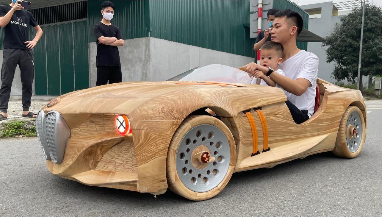 drivable wood car