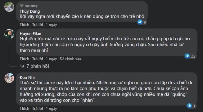 comments against walking frame