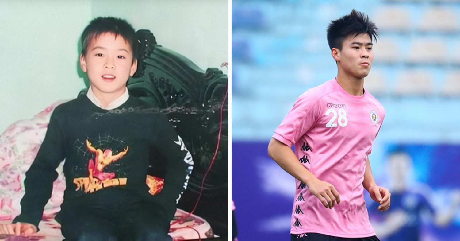 footballers childhood photos - duy manh
