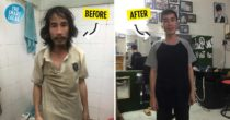 Stranger Buys Homeless Man A Haircut That Transforms Him Entirely