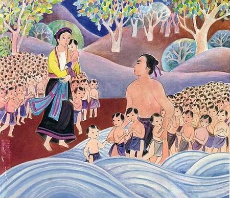 vietnamese legends - lac long quan and au co