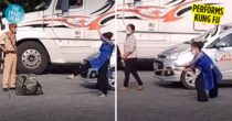 Citizen Performs Kung Fu In Front Of Covid-19 Police, Netizens Call Her 'Wong Fei-Hung'