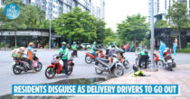 Saigon Residents Dress Up As Delivery Drivers To Go Out, Authorities Issue Strict Warning