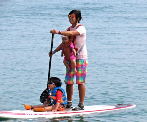 d953699480 Surfer mum makes waves with Stand-Up Paddling