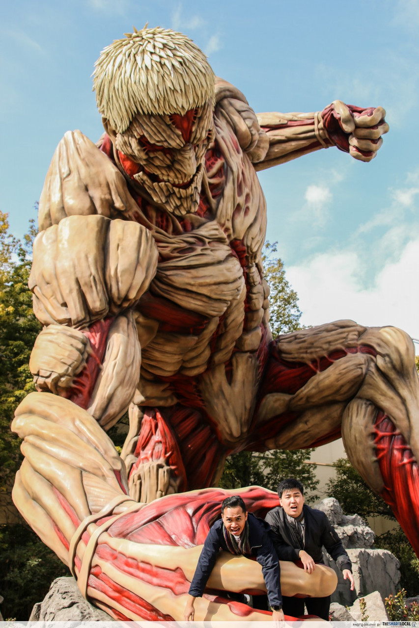 attack on titan life size theme park japan osaka