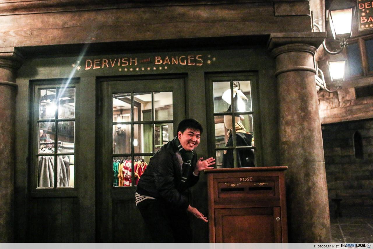 universal studios japan harry potter restaurant bar wizarding world dervish banges