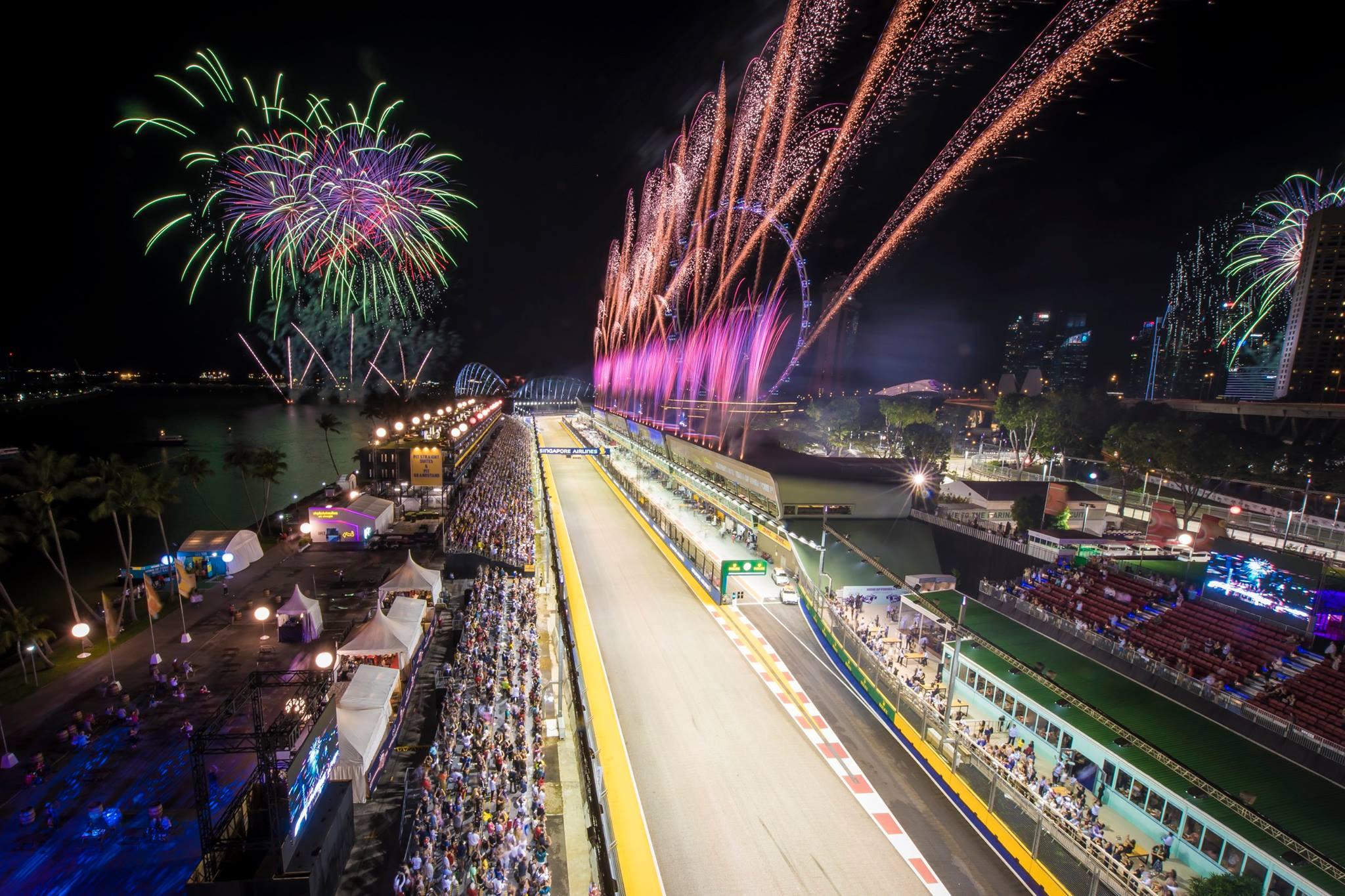 F1 Singapore 2018 - Fireworks
