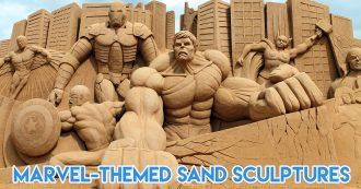 marvel sand sculptures cover image