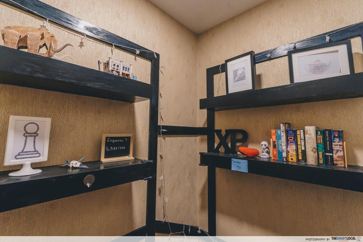 experience point shelf entrance