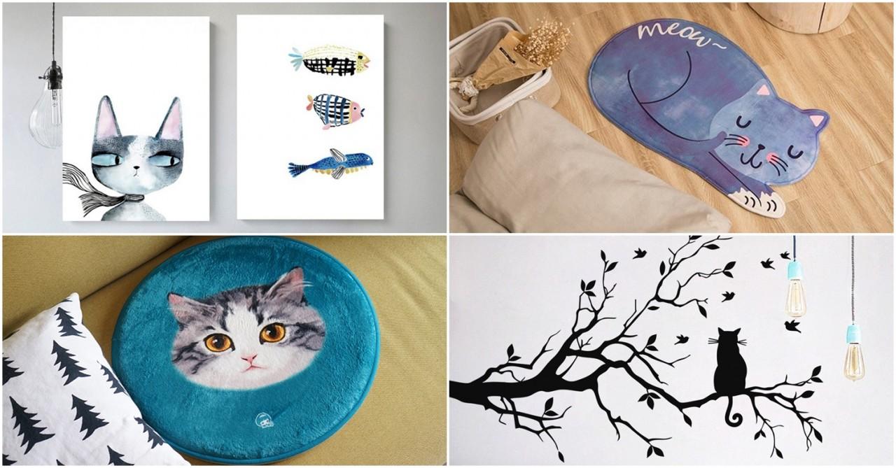 Cat-themed home decor