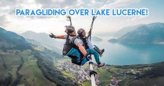 Paragliding over Lake Lucerne