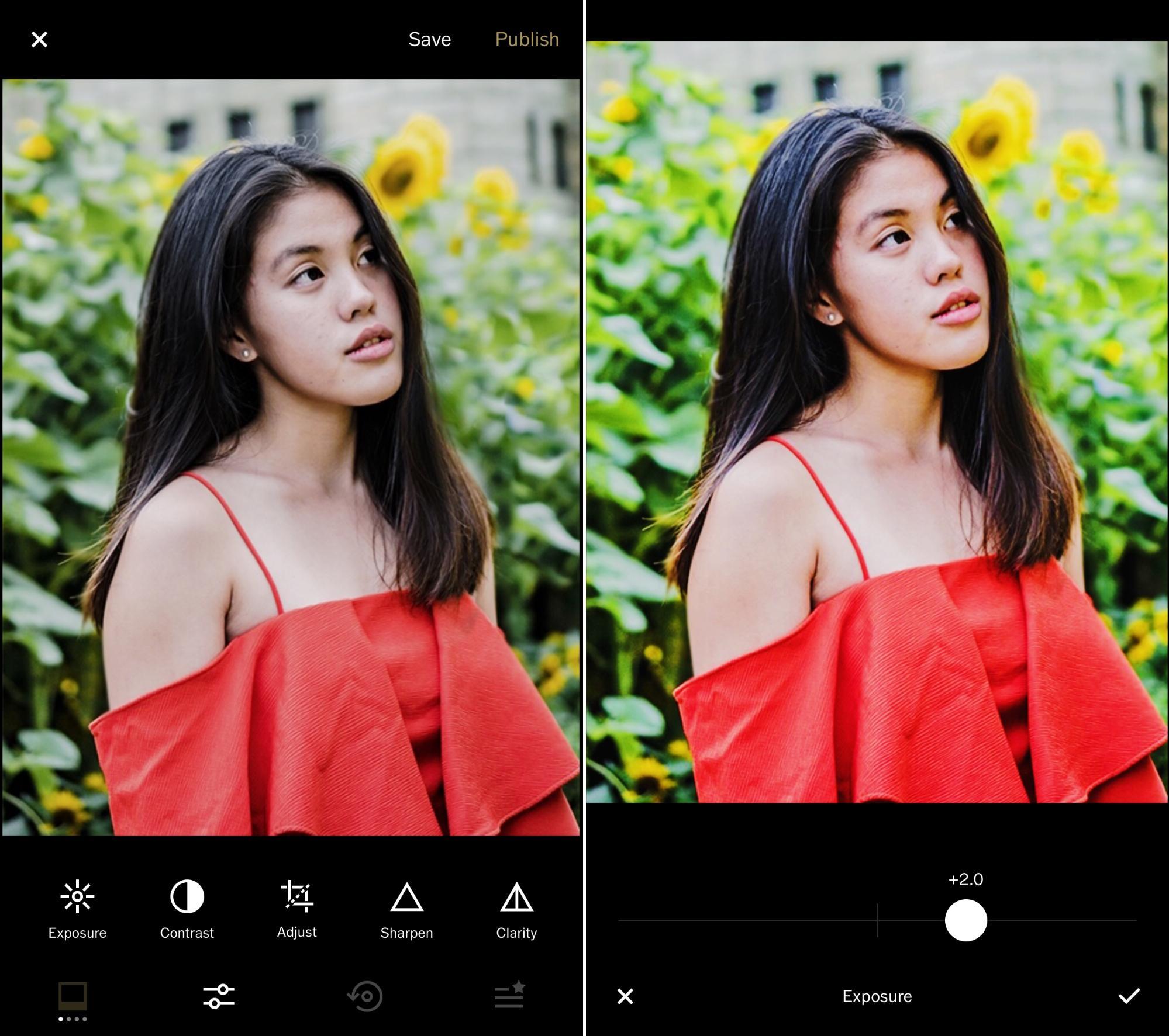 Sunflower surprise ootd using phone GBTB - VSCO contrast brightness