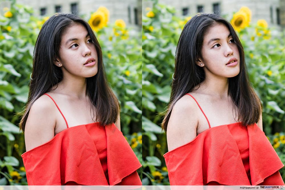 Sunflower surprise ootd using phone GBTB - beauty plus skin filters