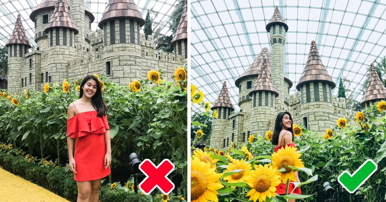 Sunflower surprise ootd using phone GBTB - good photo versus bad photo