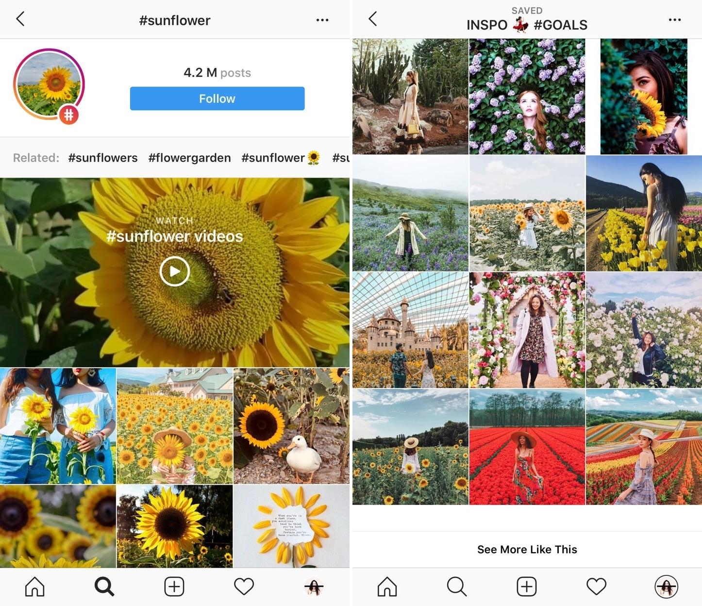 Sunflower surprise ootd using phone GBTB - instgram bookmark albums