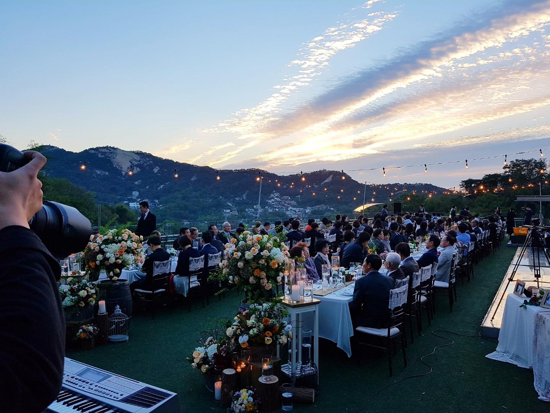 Seoul Restaurants view Korea - adela bailey wedding rooftop dinner