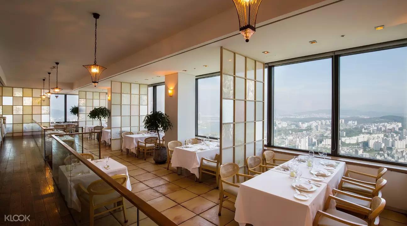 Seoul Restaurants view Korea - walking on the cloud