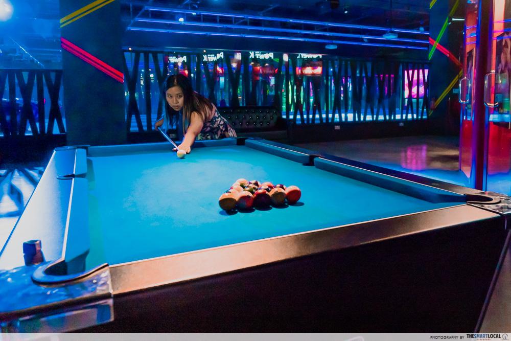 pools tables k bowling club