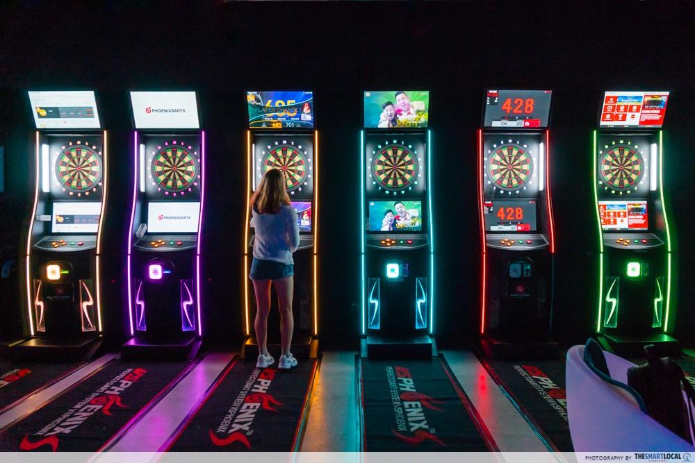 k bowling club dart machine