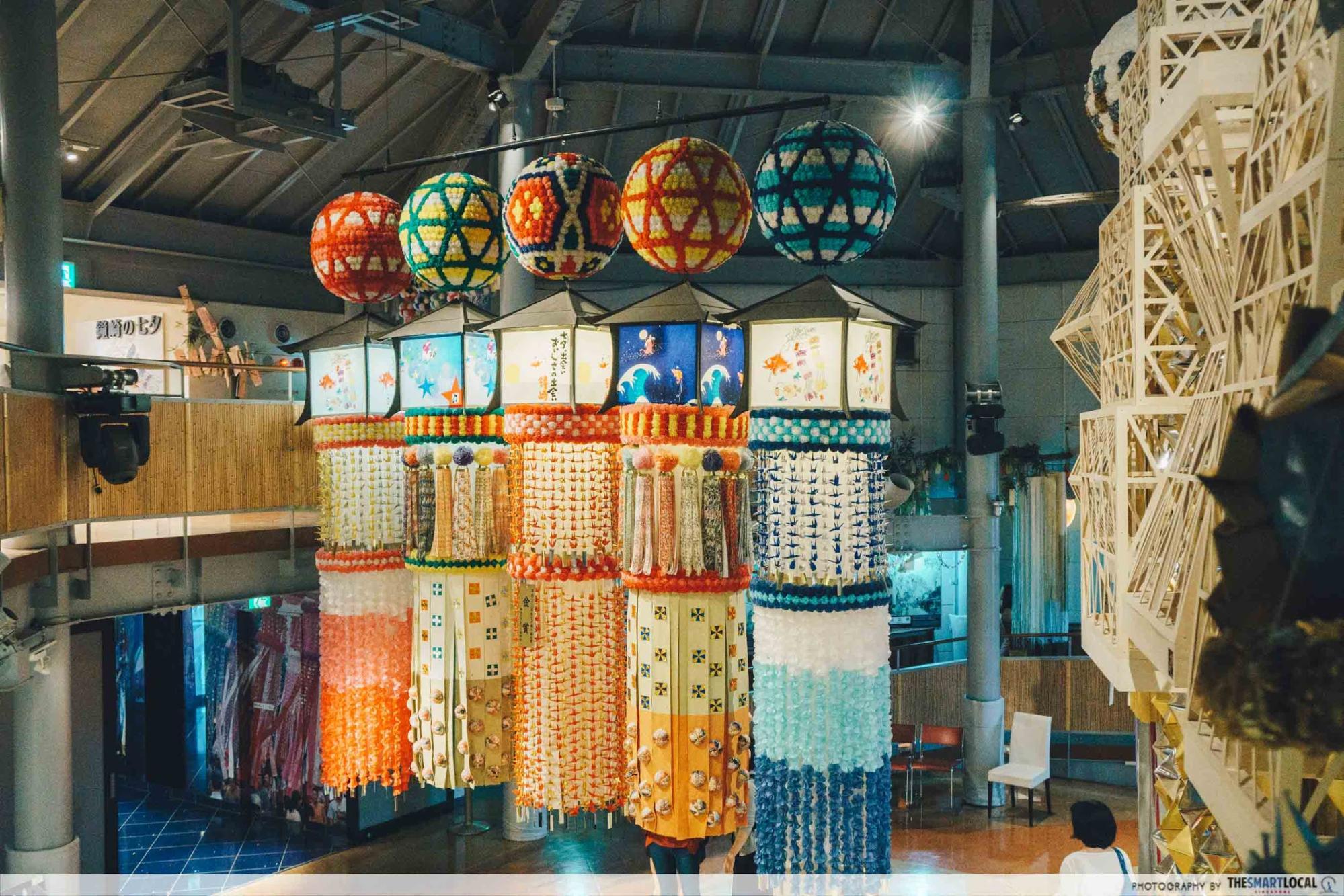 Tohoku Japan - Sendai Tanabata Museum lantern